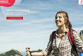 Screenshot: Webseite der Ergo-Versicherung