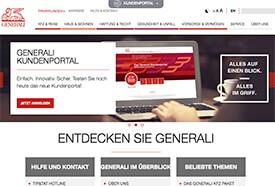 Screenshot: Website der Generali-Versicherung