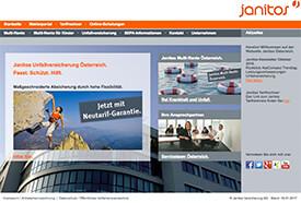 Screenshot: Webseite der Janitos-Versicherung