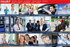 Screenshot: Webseite der Muki Versicherung
